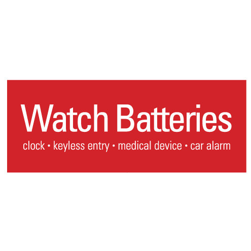 """Generic watch battery replacement display sign 12 x 4.5"""""""