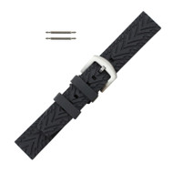 Silicone Watch Band Black 24 MM Sport Watch Band Rubber Jelly