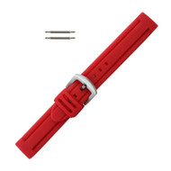 Silicone Watch Band 18MM Red Sport Watch Band Rubber Jelly