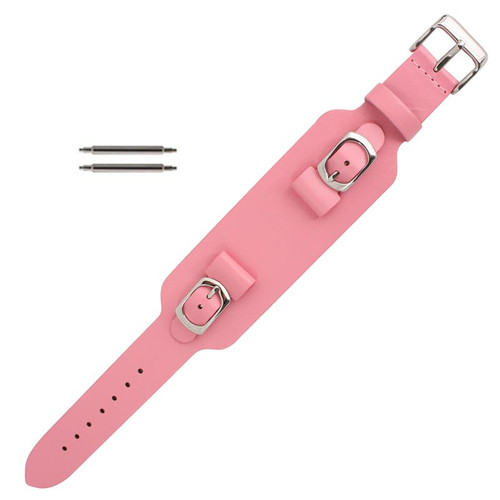 15mm wide retro look watch band in pink