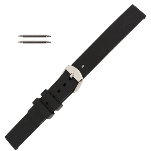 18mm rubber watch strap with matte finish