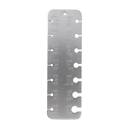 Three reading pocket wire gauge