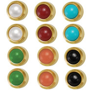 Studex 3.0mm Ear Piercing Bezel Set Assorted Pearls