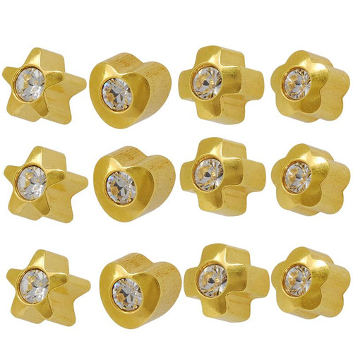 micro steel ear triple shop gem stud studs set labret piercing