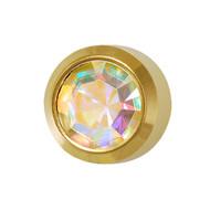 Studex Ear Piercing Studs Bezel Set Aurora Borealis Crystal