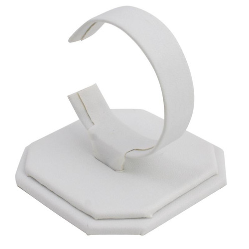 Watch Stand in White Leatherette Material Use to Display Watch
