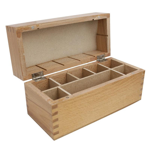 Large Wooden Storage Box With 8 Compartments For Storing Gold Acid