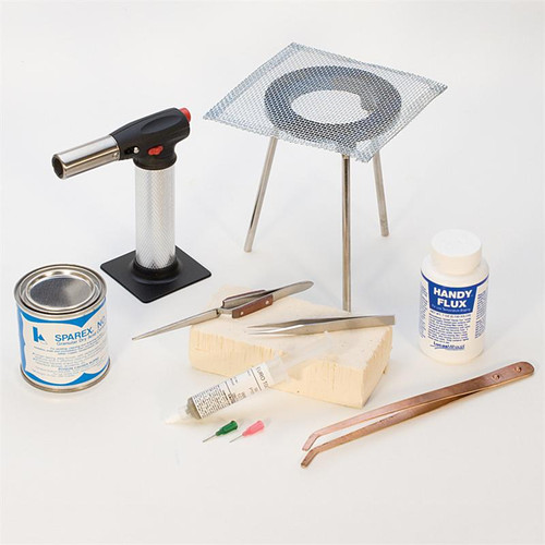 Basic Soldering Tool Kit 9 Pcs With Torch And Paste Silver