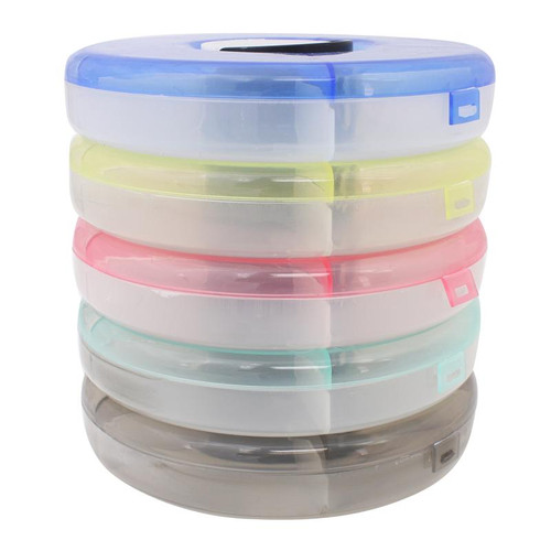 Attirant Stackable Round Plastic Storage Containers Set Of 5