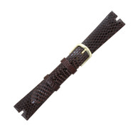 Hadley Roma Made To Fit Gucci® Cut Genuine Java Lizard Brown Watch Band 17mm