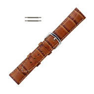 Hadley Roma Alligator Grain Italian Leather Watch Band 18mm Tan
