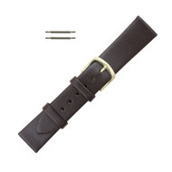 Hadley Roma 18mm Brown Leather Watch Band Men's Short