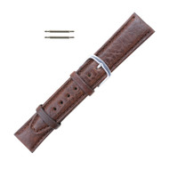 Hadley Roma Shrunken Grain Leather Watch Strap Brown 19mm