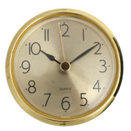 Gold Bezel Clock Insert With White Dial And Arabic Numerals