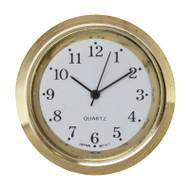 "Clock Movement Micro Quartz Insert 1-7/16"" (36mm) Outer Diameter"