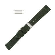 Hadley Roma Genuine Cordura® Watch Strap 20mm Military Green