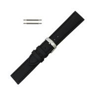 Hadley Roma Genuine Lorica® Watch Band Hypo Allergenic 24mm Black