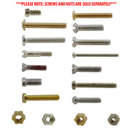 Eyeglass Screw and Eyeglass Nut Refills; Pack of 10 Pieces