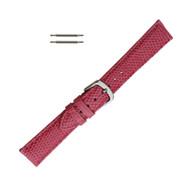 Hadley Roma Genuine Java Lizard Pink Watch Band 16mm
