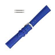 Hadley Roma Genuine Java Lizard Blue Watch Band 16mm
