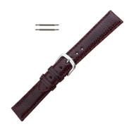 Hadley Roma Genuine Java Lizard Burgundy Watch Band 16mm