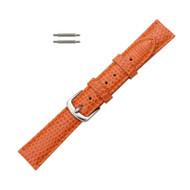 Hadley Roma Genuine Java Lizard Orange Watch Band 16mm
