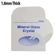 1.8mm thick flat, round mineral glass crystals