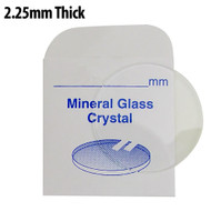 2.25mm flat round mineral glass crystals great for divers watches