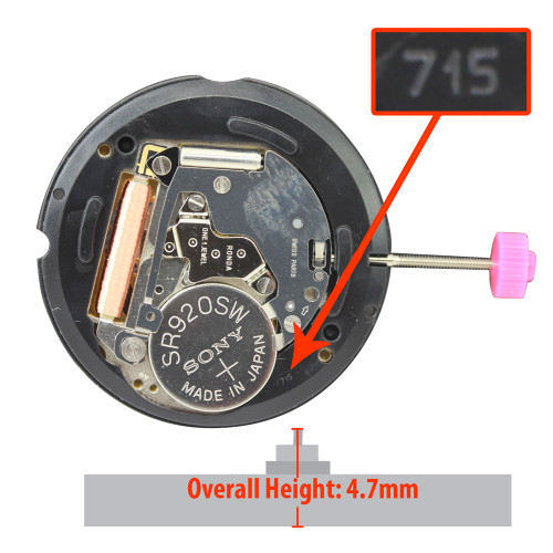 Harley Ronda HX715.4 XHCP quartz watch movements