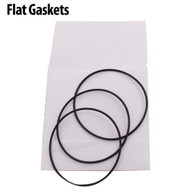 Waterproof flat black gaskets maintain the water resistance of watches