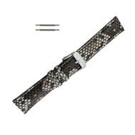Hadley Roma Genuine Python Watch Strap Natural 16mm