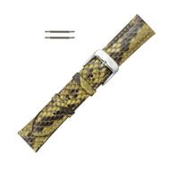 Hadley Roma Genuine Python Watch Strap Yellow 16mm
