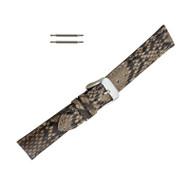 Hadley Roma Genuine Python Watch Strap Taupe 16mm