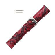 Hadley Roma Genuine Python Watch Strap Red 16mm