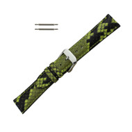 Hadley Roma Genuine Python Watch Strap Lime Green 16mm