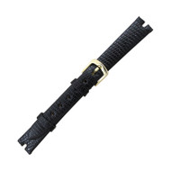 Hadley Roma Made To Fit Gucci® Cut Watch Band Genuine Java Lizard 12mm Black