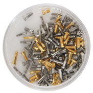 Optical Screw Assortment Yellow and White 144 pieces