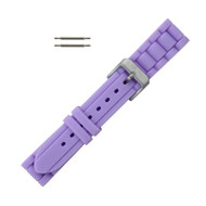Hadley Roma Link Style Design Silicone Watch Band Lavender 18mm