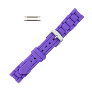 Hadley Roma Link Style Design Silicone Watch Band Purple 18mm