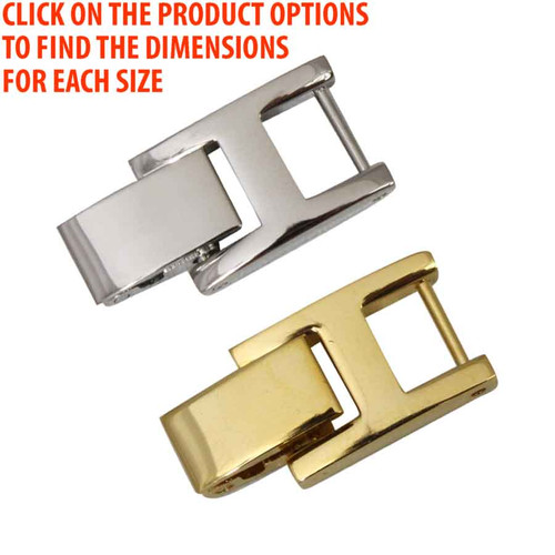 Watch Band Bracelet Clasp Extenders White Or Yellow Each