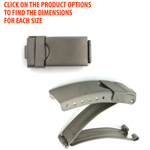 Watch Band ClaspTitanium Tri-Fold Buckle with Security Catch Clasps
