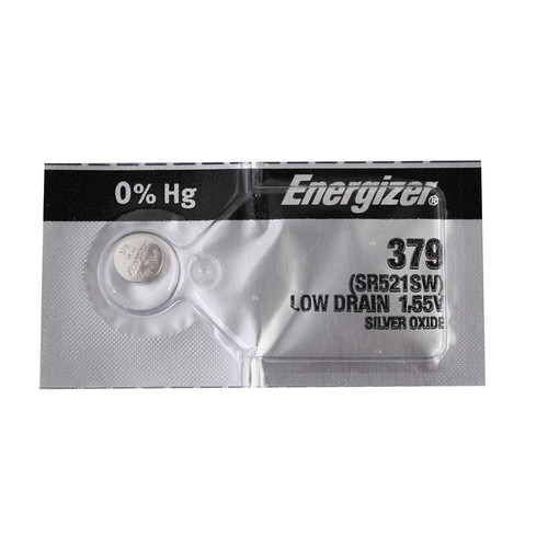 Set of replacement Energizer 379 watch batteries
