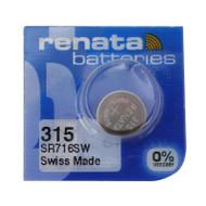 Watch Battery Renata 315 Replacement Cells Each