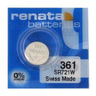 Watch Battery Renata 361 Replacement Cells Each