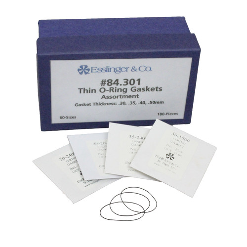 180-piece thin o-ring gasket assortment with 60 different gasket sizes