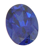 Oval Lab Created Sapphire
