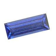 Straight Baguette Lab Created Sapphire