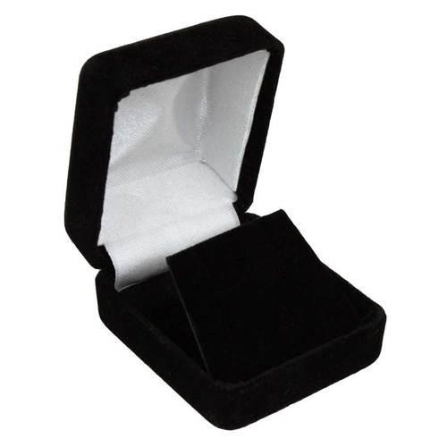 Black velvet earring box