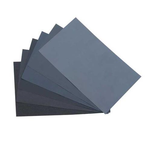 "Jewelers Wet/ Dry Emery Sanding Paper 9"" x 11"" Pkg of 5 (Choose Grit)"
