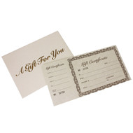 Gift Certificates With Tear Off Portion Ideal For Retail Use
